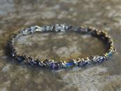 Amethyst Gold-Diamond & Stone Bracelet 14 Diamonds .14 Carat T.W.